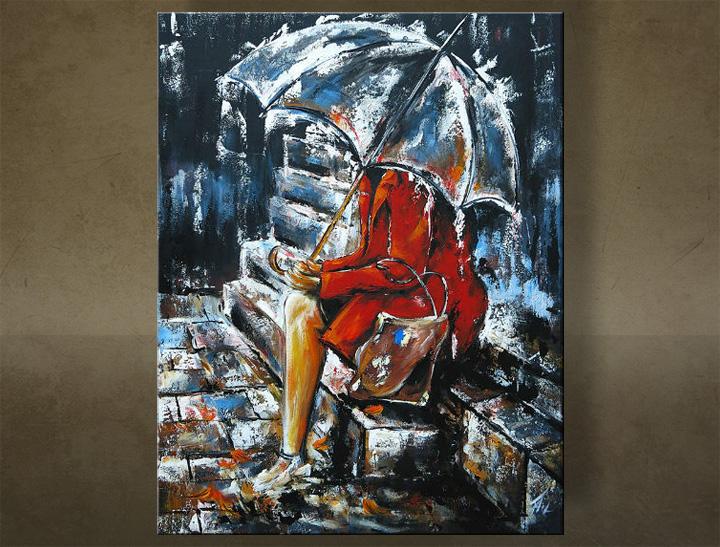 Ručne maľovaný obraz JESEŇ 1 dielny 6228FA (RUčNE MAľOVANé OBRAZY)