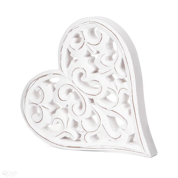 Drevená dekorácia Srdce 16x17 cm