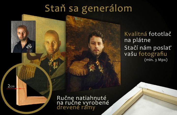 Staň sa GENERÁLOM - Obraz pre mužov FOTO-GEN (Obraz z fotografie)