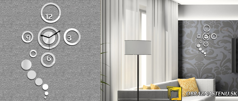Moderné nástenné hodiny MIRROR DREAM NH026 (nalepovacie hodiny na stenu)