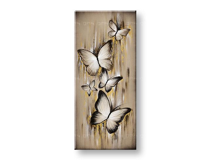 Maľovaný obraz na stenu MOTÝLE 90x40 cm YOBAM043E1 (skladom)
