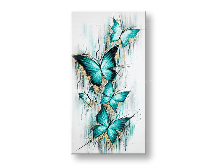 Maľovaný obraz na stenu MOTÝLE 95x50 cm YOBAM049E1 (skladom)