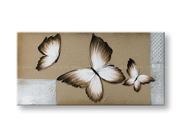 Maľovaný obraz na stenu DeLUXE MOTÝLE 1 dielny YOBDO155D1 (maľovaný obraz DeLUXE)