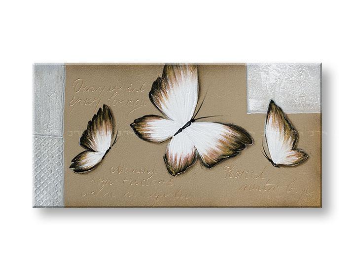 Maľovaný obraz na stenu DeLUXE MOTÝLE 1 dielny YOBDO156D1 (maľovaný obraz DeLUXE)