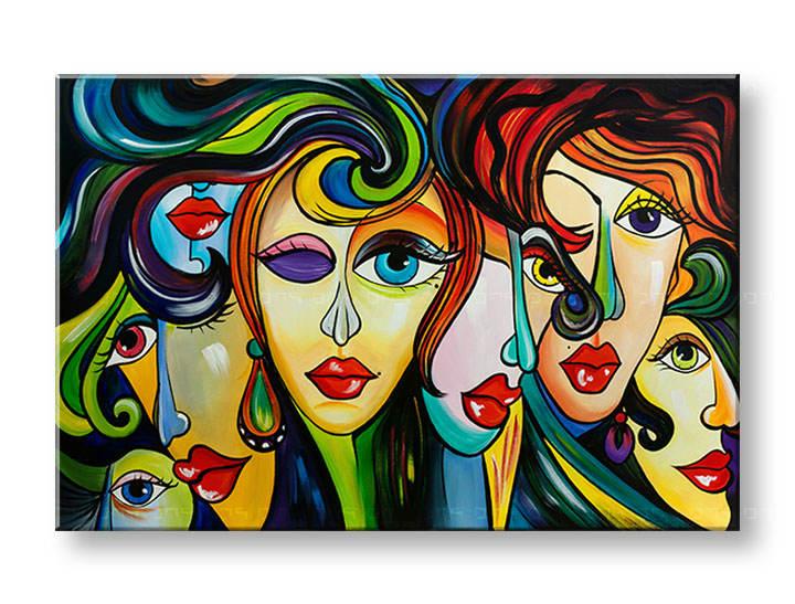 Ručne maľovaný obraz na stenu ŽENY 1 dielny YOBAM010E1