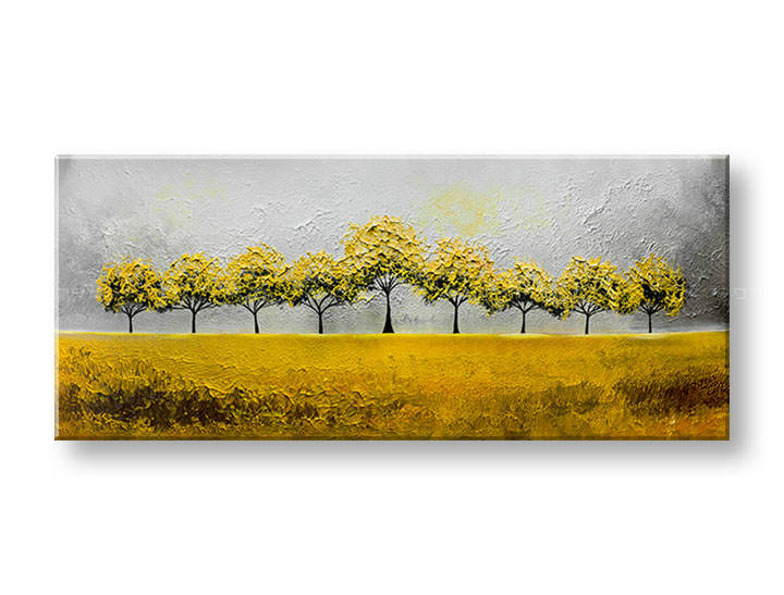 Ručne maľovaný obraz na stenu STROMY 1 dielny YOBAM017E1