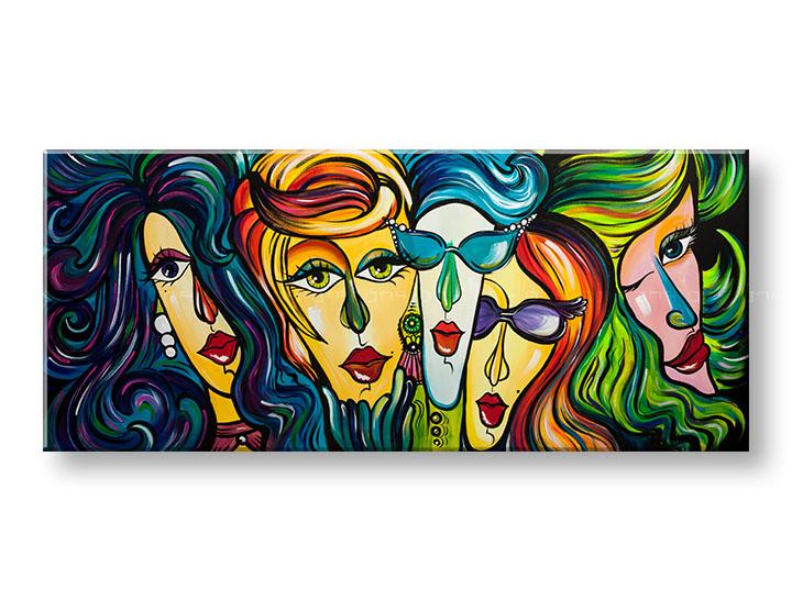Maľovaný obraz na stenu ŽENY 1 dielny YOBAM025E1
