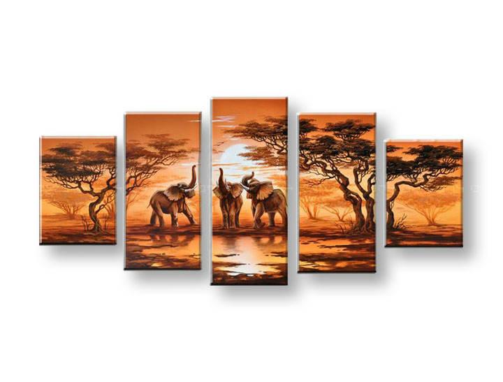 Maľovaný obraz na stenu AFRIKA FB046E5 (maľované obrazy FABIO)
