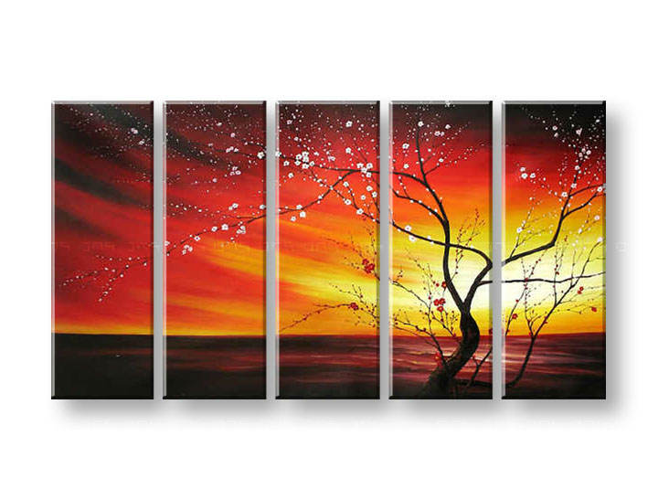 Maľovaný obraz na stenu STROMY FB049E5 (maľované obrazy FABIO)