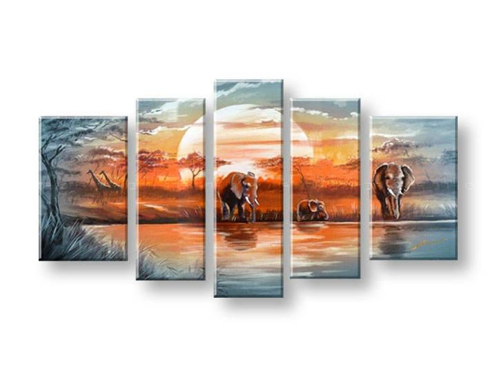Maľovaný obraz na stenu AFRIKA FB099E5 (maľované obrazy FABIO)