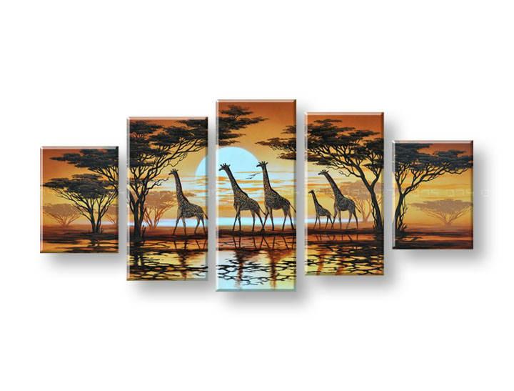 Maľovaný obraz na stenu AFRIKA FB147E5 (maľované obrazy FABIO)