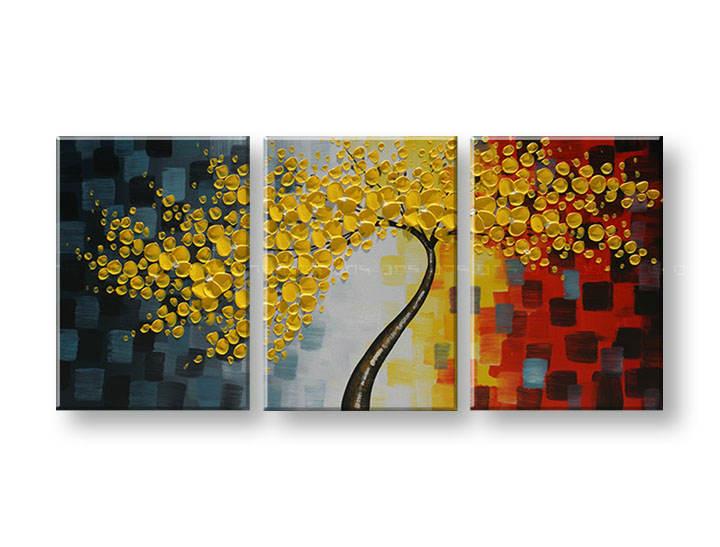 Maľovaný obraz na stenu STROMY FB171E3 (maľované obrazy FABIO)