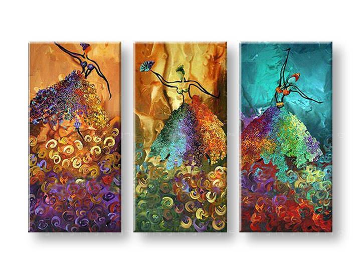 Maľovaný obraz na stenu TANEČNICE FB235E3 (maľované obrazy FABIO)