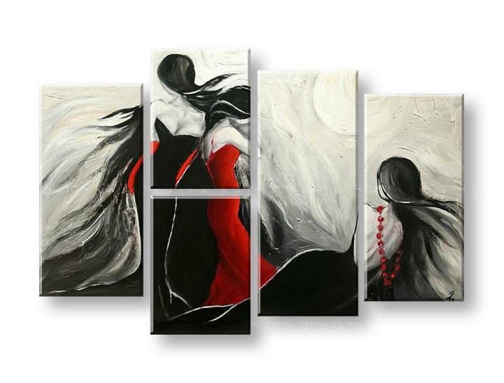 Maľovaný obraz na stenu ŽENY FB241E5 (maľované obrazy FABIO)