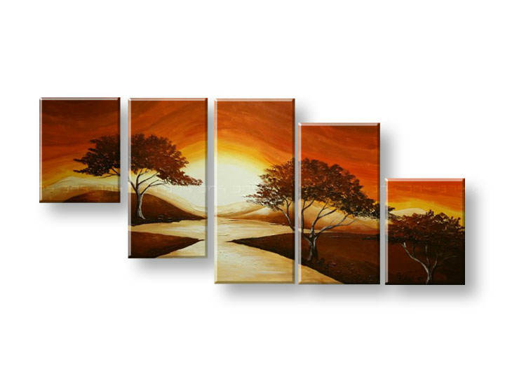 Maľovaný obraz na stenu STROMY FB289E5 (maľované obrazy FABIO)