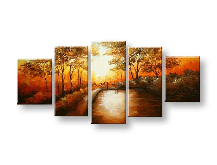 Maľovaný obraz na stenu STROMY FB315E5 (maľované obrazy FABIO)