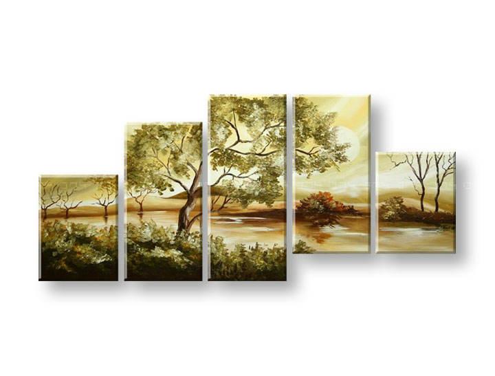Maľovaný obraz na stenu STROMY FB373E5 (maľované obrazy FABIO)