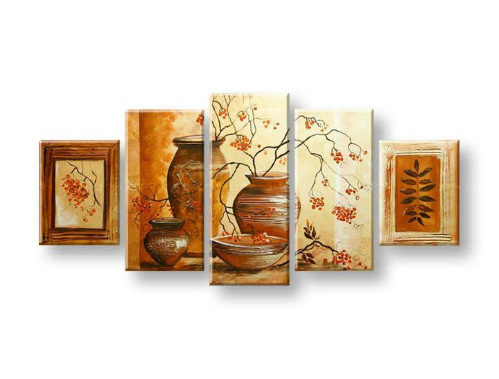 Maľovaný obraz na stenu VÁZY FB399E5 (maľované obrazy FABIO)