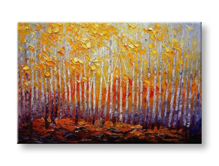 Maľovaný obraz na stenu STROMY FB497E1 (maľované obrazy FABIO)