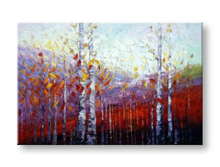 Maľovaný obraz na stenu STROMY FB516E1 (maľované obrazy FABIO)
