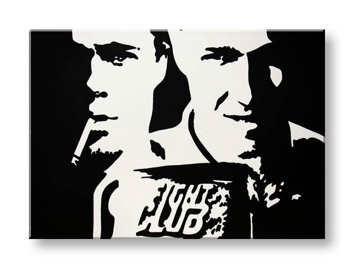 Ručne maľovaný POP Art obraz Fight Club  fight_club