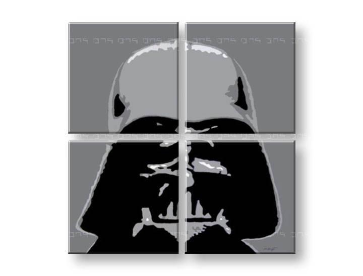 Ručne maľovaný POP Art obraz STAR WARS 4 dielny sw (POP ART obrazy)
