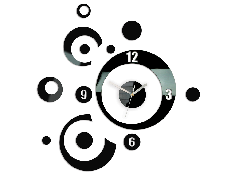 Moderné nástenné hodiny PLANET NH005 (samolepiace hodiny na stenu)
