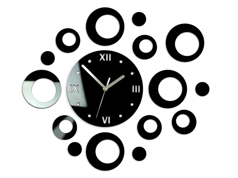 Moderné nástenné hodiny RINGS NH008 (nalepovacie hodiny na stenu)
