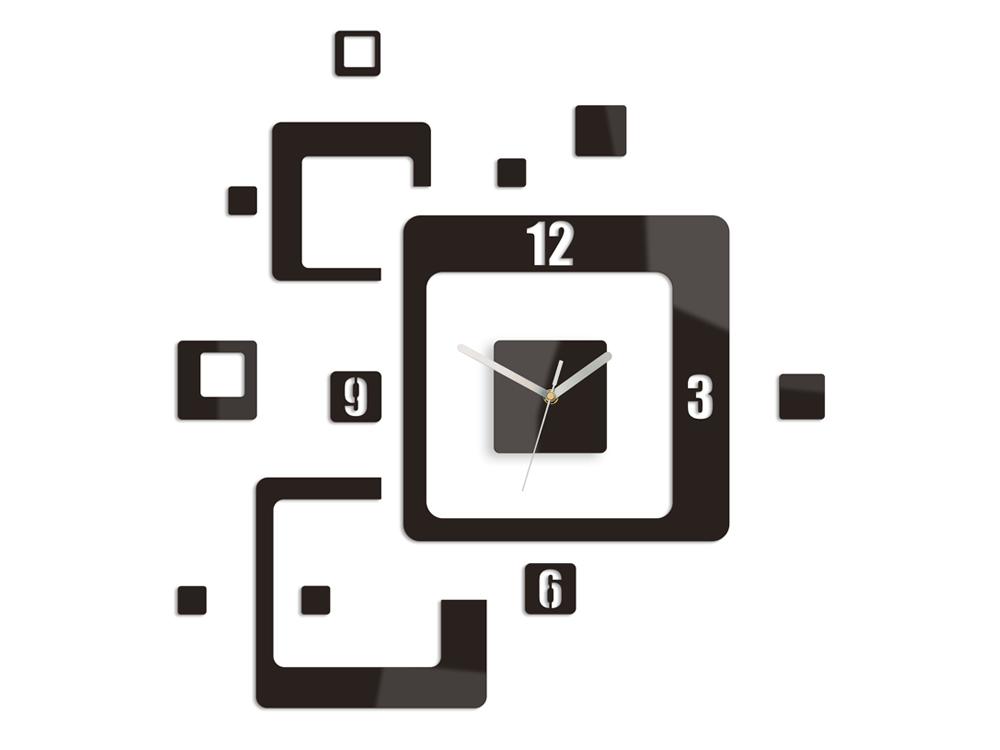 Moderné nástenné hodiny TRIO HMCNH013-wenge (nalepovacie hodiny na stenu)