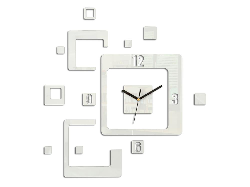 Moderné nástenné hodiny TRIO HMCNH013-white (nalepovacie hodiny na stenu)
