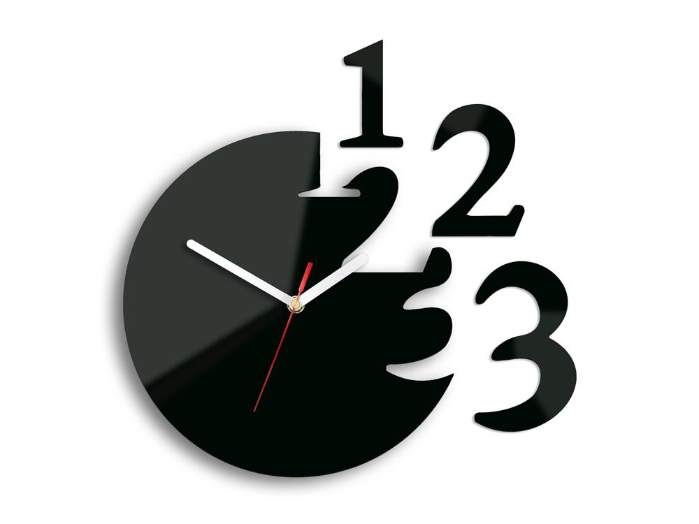 Moderné nástenné hodiny ČÍSLICE NH014 (nalepovacie hodiny na stenu)