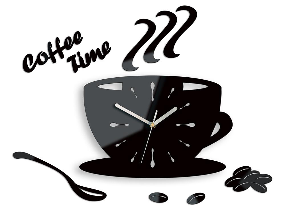 Moderné nástenné hodiny Cup Clock NH015 (nalepovacie hodiny na stenu)