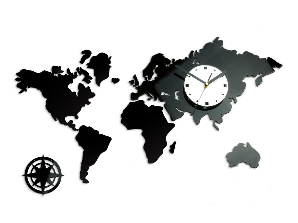 Moderné nástenné hodiny WORLD NH021 (nalepovacie hodiny na stenu)