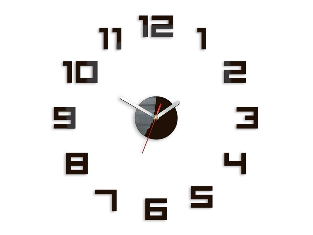 Moderné nástenné hodiny DIGIT WENGE HMCNH029-wenge (nalepovacie hodiny na stenu)