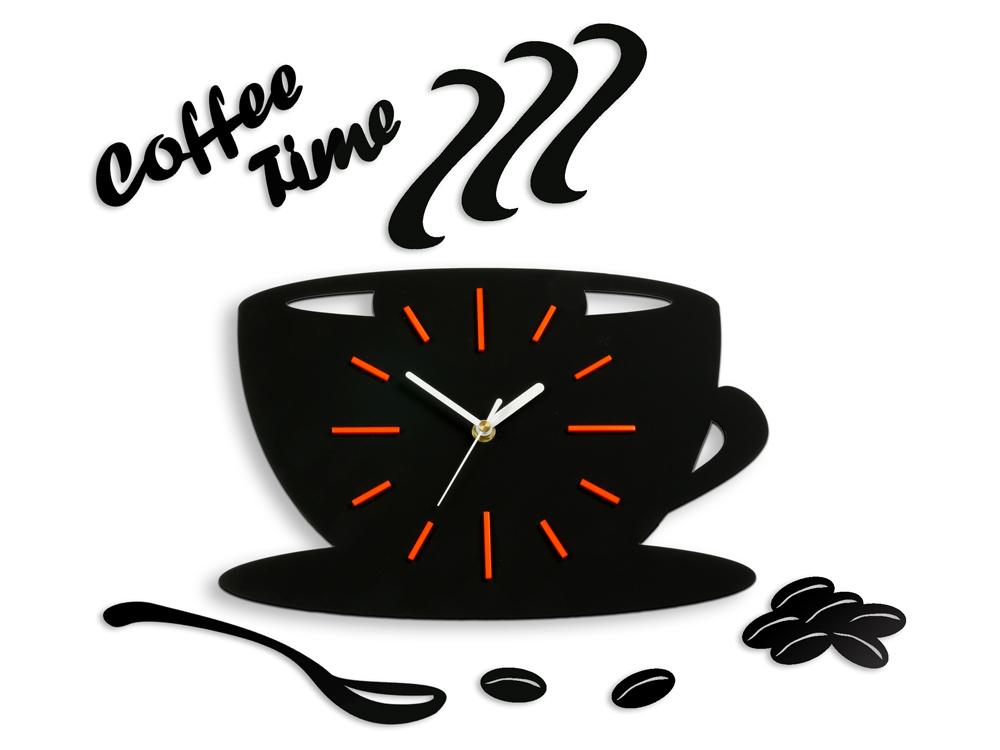 Moderné nástenné hodiny Orange Satin Cup NH040 (nalepovacie hodiny na stenu)