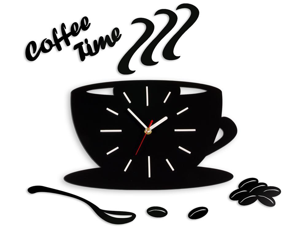 Moderné nástenné hodiny White Satin Cup NH042 (nalepovacie hodiny na stenu)