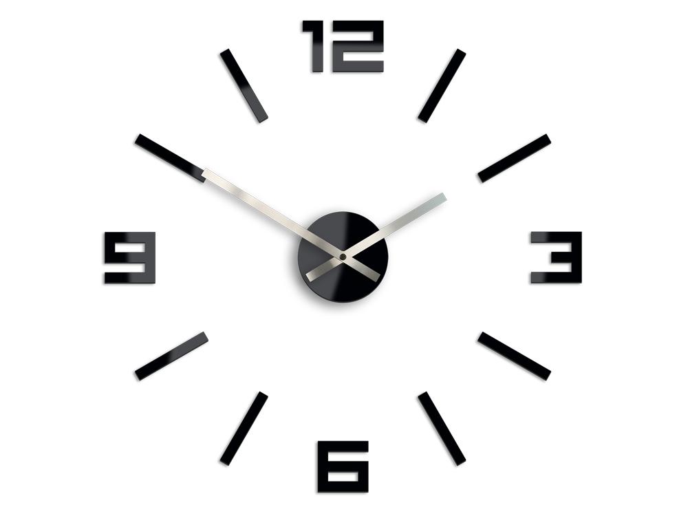 Moderné nástenné hodiny ARABIC BLACK HMCNH056-black (nalepovacie hodiny na stenu)