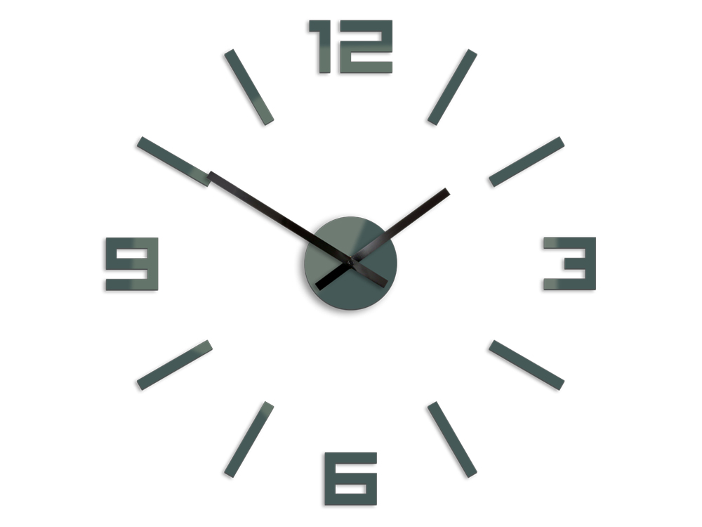 Moderné nástenné hodiny ARABIC GRAY HMCNH056-gray (nalepovacie hodiny na stenu)