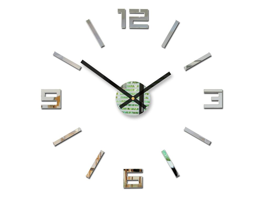 Moderné nástenné hodiny ARABIC MIRROR HMCNH056-mirror (nalepovacie hodiny na stenu)