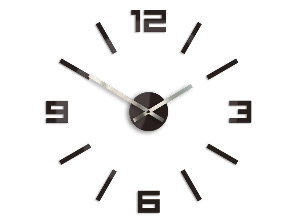 Moderné nástenné hodiny ARABIC WENGE HMCNH056-wenge (nalepovacie hodiny na stenu)