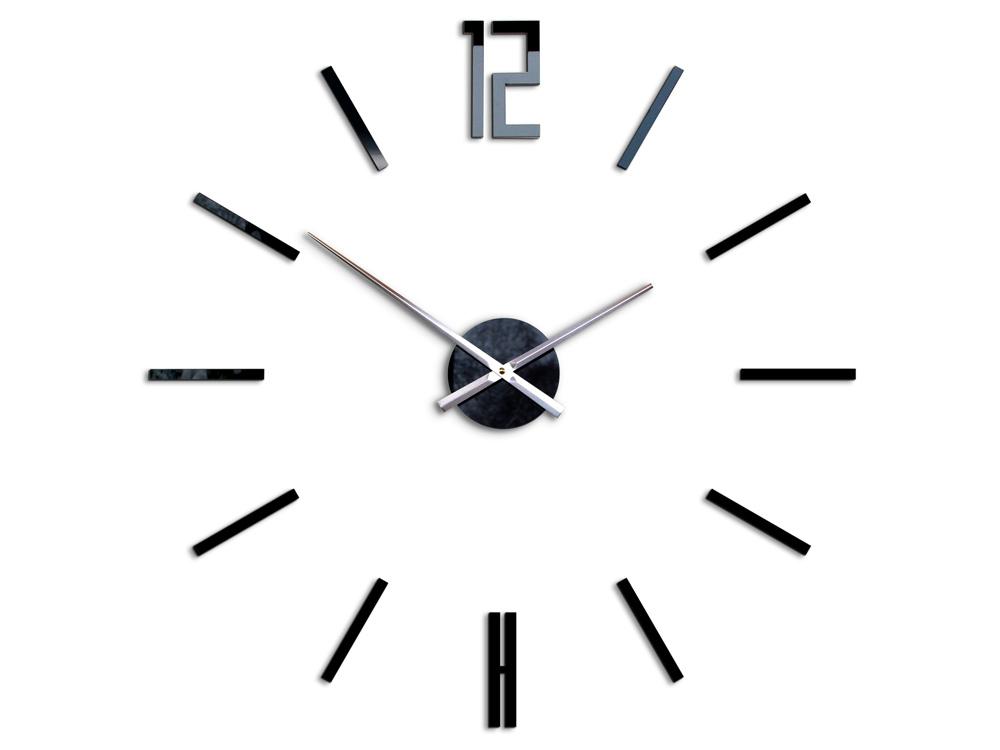 Moderné nástenné hodiny CARLO BLACK HMCNH057-black (nalepovacie hodiny na stenu)