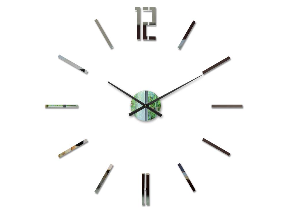 Moderné nástenné hodiny CARLO MIRROR HMCNH057-mirror (nalepovacie hodiny na stenu)