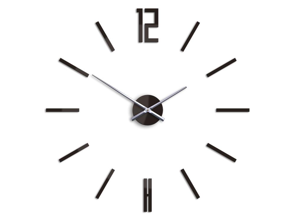 Moderné nástenné hodiny CARLO WENGE HMCNH057-wenge (nalepovacie hodiny na stenu)