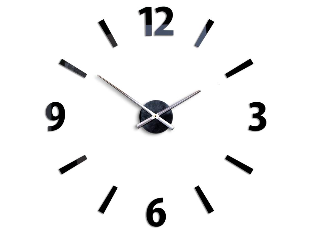 Moderné nástenné hodiny KLAUS BLACK HMCNH061-black (nalepovacie hodiny na stenu)