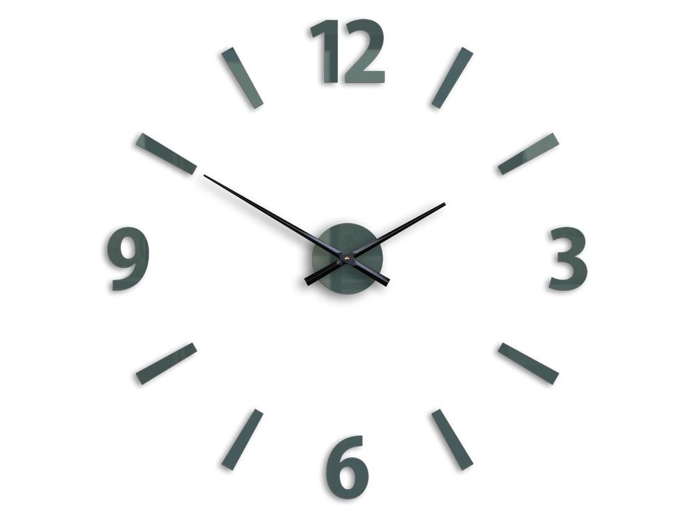 Moderné nástenné hodiny KLAUS GRAY HMCNH061-gray (nalepovacie hodiny na stenu)
