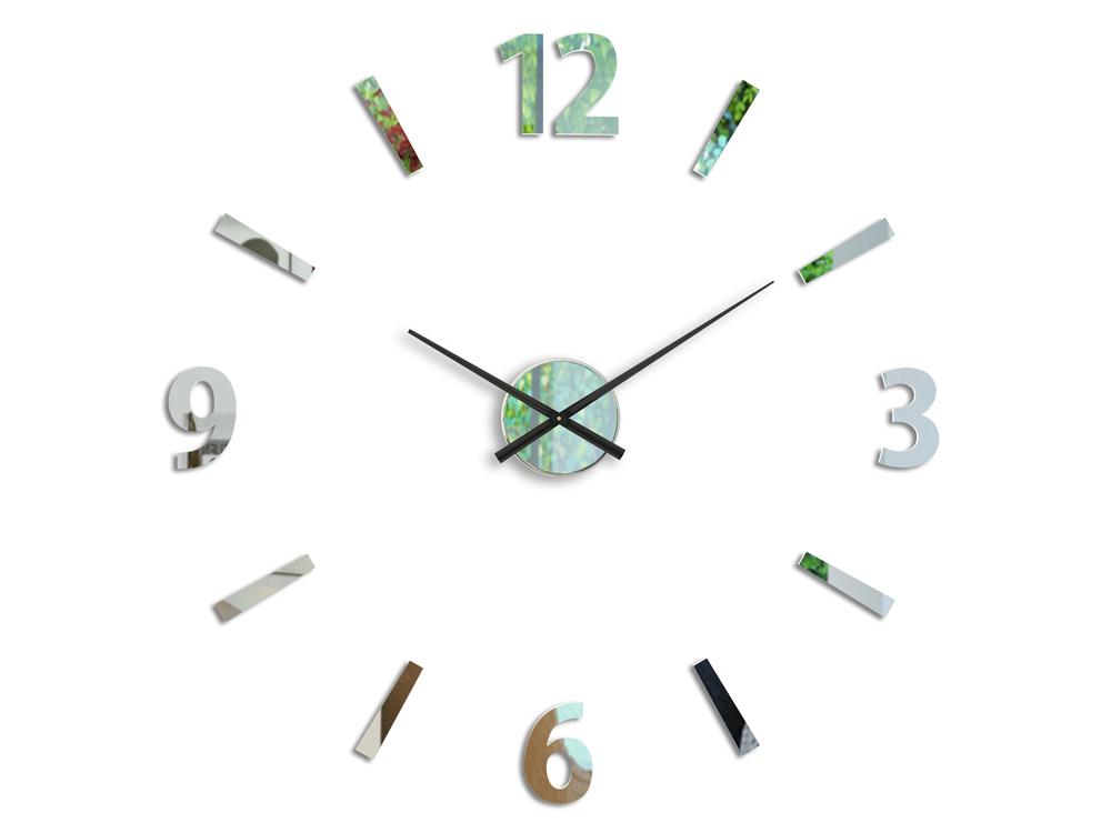 Moderné nástenné hodiny KLAUS MIRROR HMCNH061-mirror (nalepovacie hodiny na stenu)