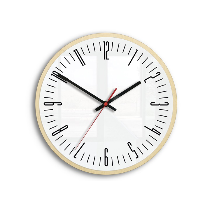 Moderné nástenné hodiny PIANO WHITE HMCNH069-white (hodiny na stenu)