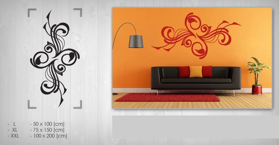 Nálepka na stenu KVETY NAK045 (samolepky na stenu)