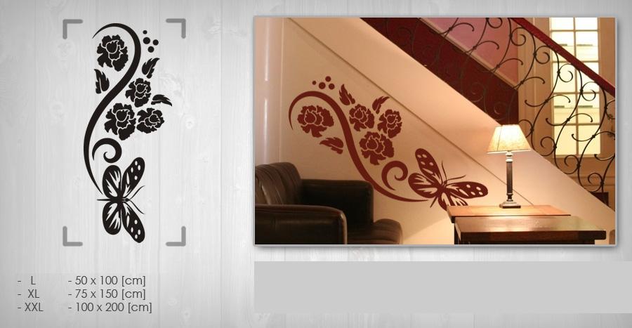 Nálepka na stenu KVETY NAK050 (samolepky na stenu)