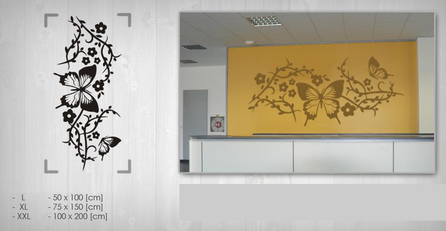 Nálepka na stenu KVETY NAK055 (samolepky na stenu)